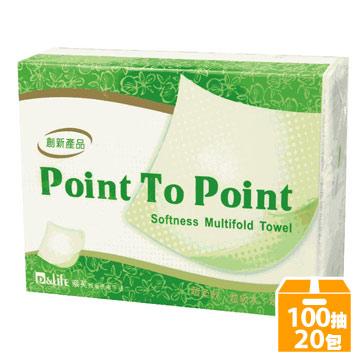 P&Life奈芙-蜂巢式擦手紙巾(100抽x20包/箱)