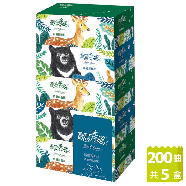 寶島春風 盒裝面紙(200抽x5盒/串)