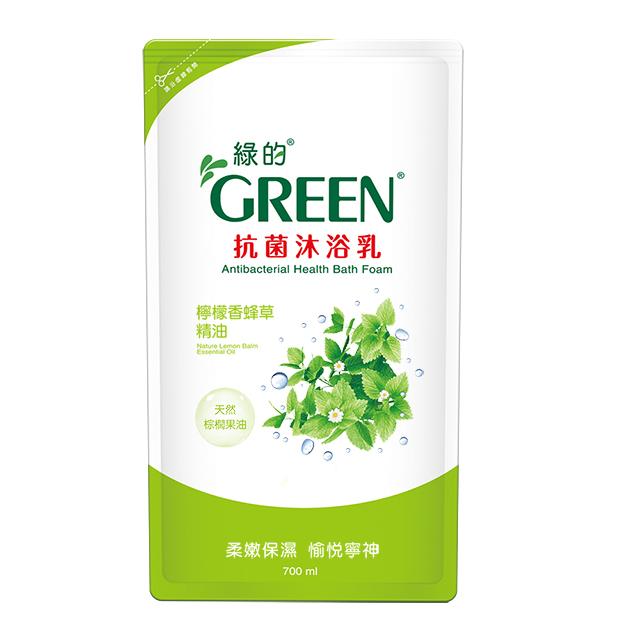 綠的GREEN 抗菌沐浴乳補充包-檸檬香蜂草精油700ml