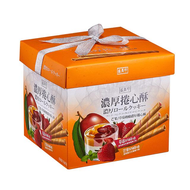 《盛香珍》濃厚捲心酥禮盒510g(芒果乳酪+草莓乳酪口味)
