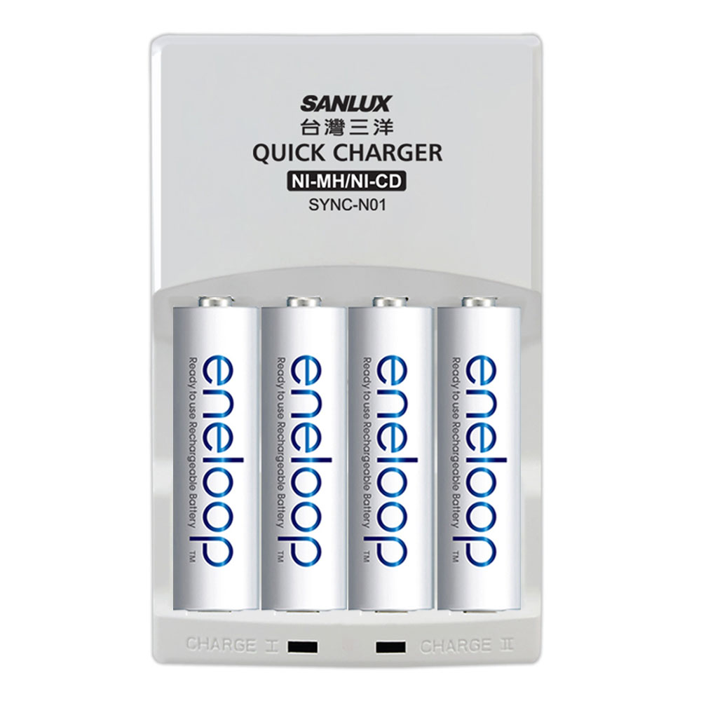 Panasonic國際牌ENELOOP低自放充電電池組(智慧型充電器+4號4入)