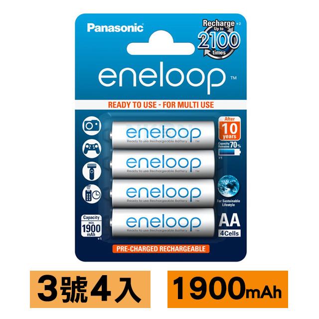 Panasonic eneloop低自放電充電電池(3號4入)