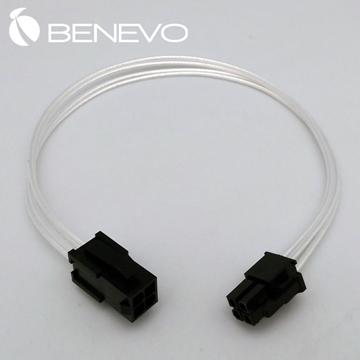 BENEVO鍍銀版 30cm 顯卡電源4PIN電源延長線