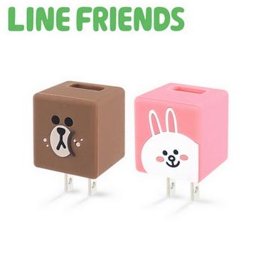 LINE FRIENDS 立體QQ 1A輕巧USB充電器(LN-CR04)