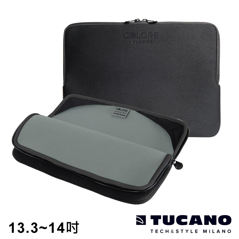 TUCANO Colore 多彩時尚筆電防震內袋 13.3-14吋- 黑