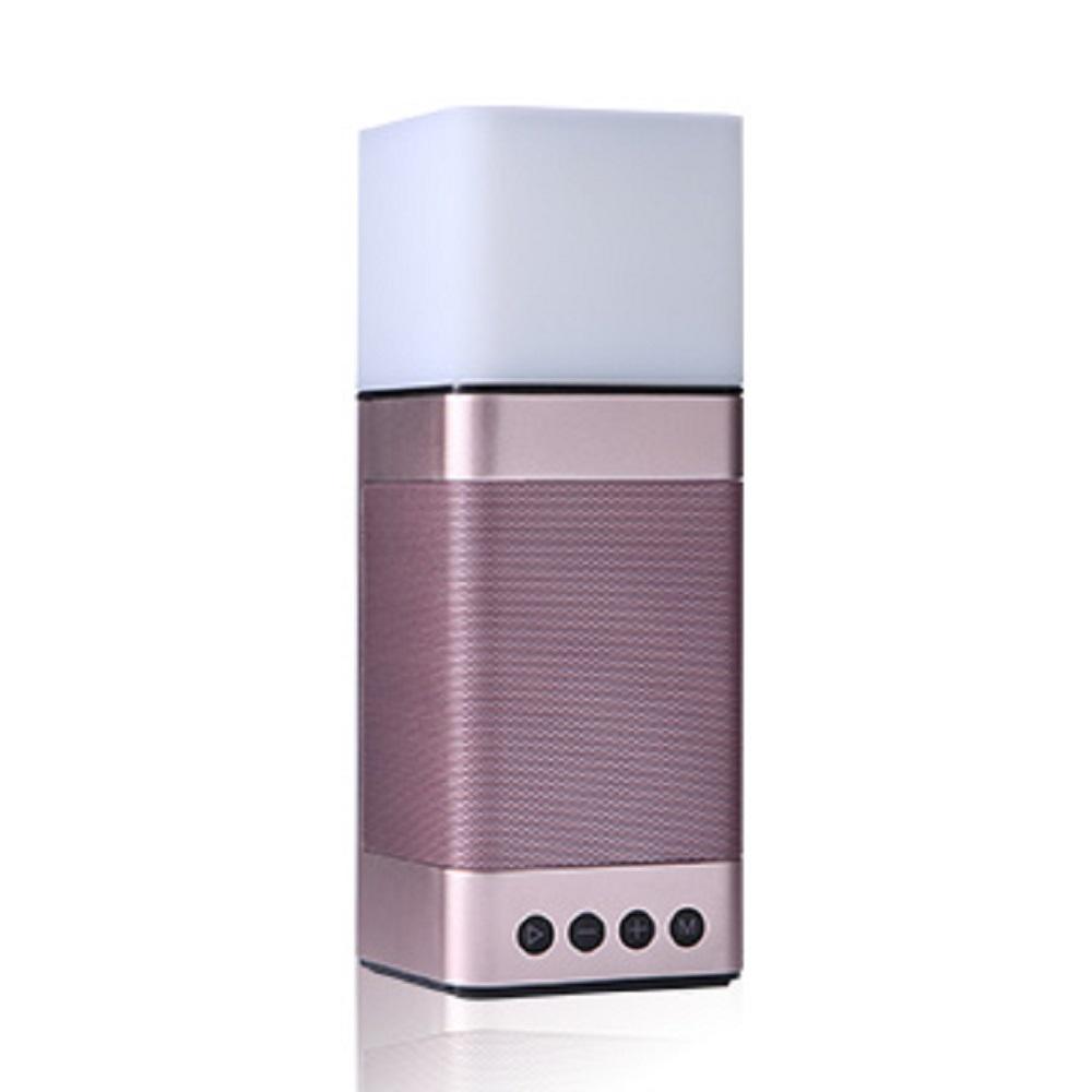 TCSTAR 插卡/鬧鐘多功能LED觸控燈藍牙喇叭/玫瑰金 TCS1140RG