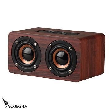 YoungFly 木紋無線藍牙喇叭YF-SP04紅
