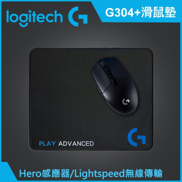 羅技 G304 無線電競滑鼠(含鼠墊)