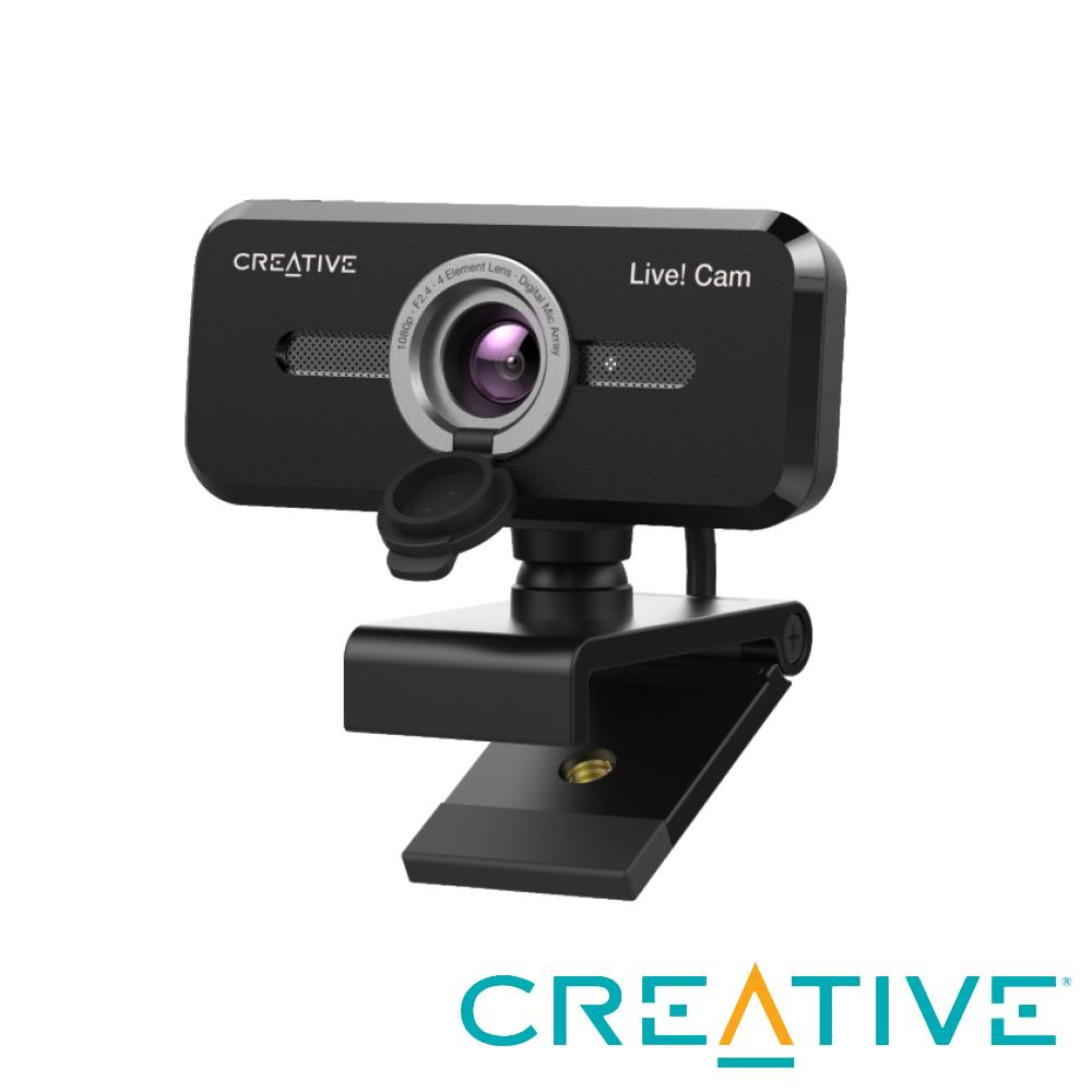 Creative Live Cam Sync 1080p V2 網路攝影機 +Pebble USB 2.0 桌上型喇叭(白)