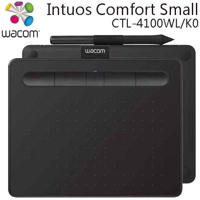 (福利品)Wacom Intuos Comfort Small 繪圖板 (藍牙版CTL-4100WL/K0)(黑)
