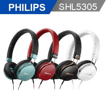 【PHILIPS 飛利浦】SHL5305頭戴式耳機麥克風