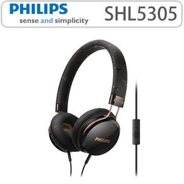 【 PHILIPS 飛利浦 】 頭戴式耳機內置麥克風 SHL5305 黑色