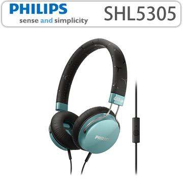 【 PHILIPS 飛利浦 】 頭戴式耳機內置麥克風 SHL5305 藍色
