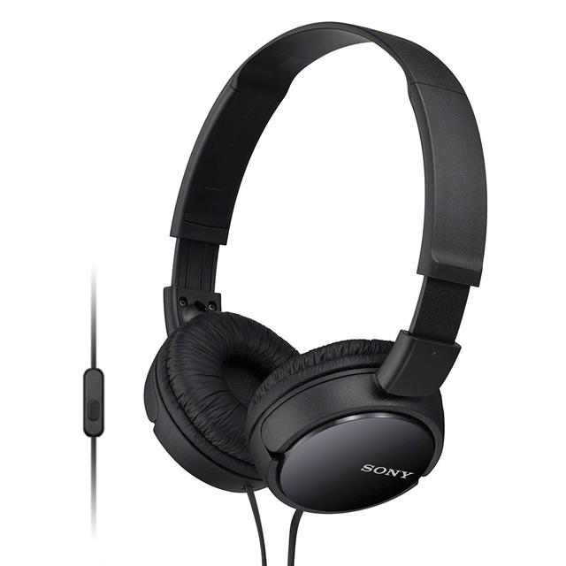 SONY 智慧型手機專用耳罩式耳機 MDR-ZX110AP(黑色)
