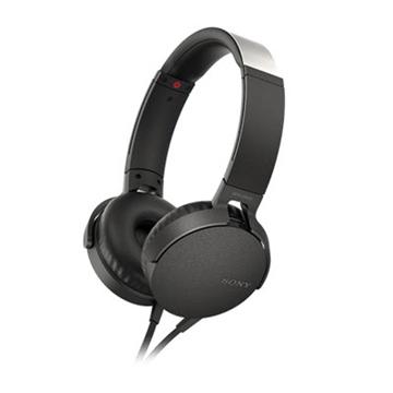 [福利品]SONY MDR-XB550AP 重低音耳罩式耳機 黑
