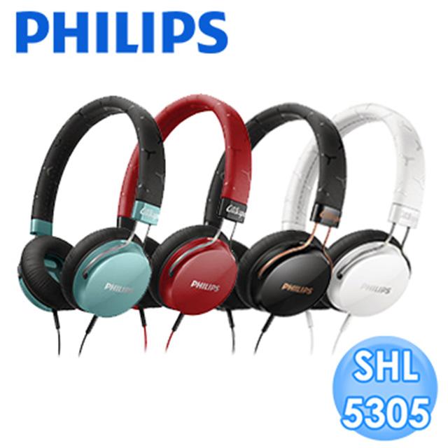 【福利品】PHILIPS 頭戴式耳機內置麥克風 SHL5305