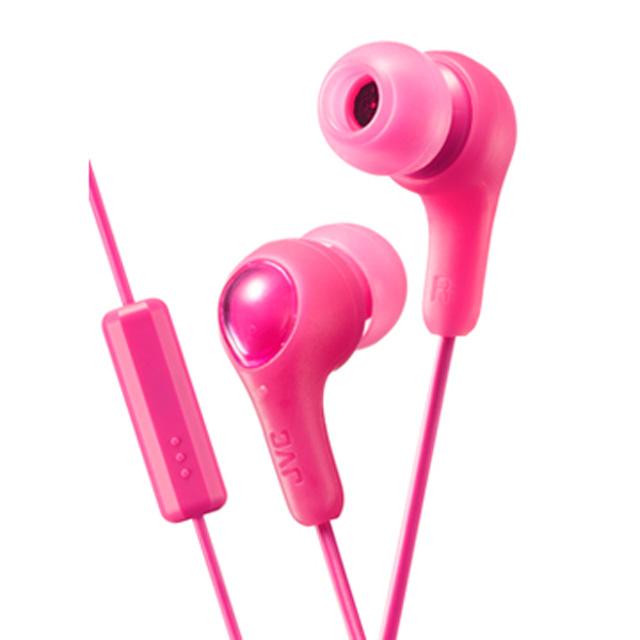 JVC HA-FX7M繽紛果凍系入耳式耳機(附麥克風)-愛戀粉