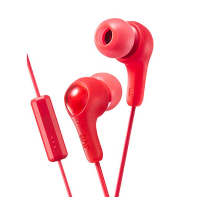 JVC HA-FX7M繽紛果凍系入耳式耳機(附麥克風)-珊瑚紅