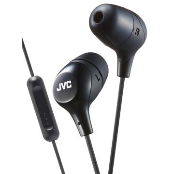 JVC HA-FX38M繽紛多彩耳道式耳機(附麥克風)-武士黑