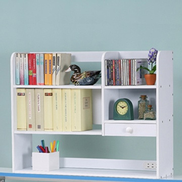《C&B》樂活趣桌上型附插座置物書架