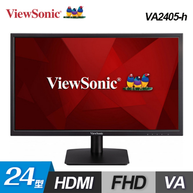 【ViewSonic 優派】24型 VA 寬螢幕顯示器(VA2405-h)