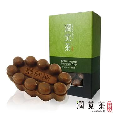 【茶寶 潤覺茶】茶酵素SPA去角質按摩皂 100g