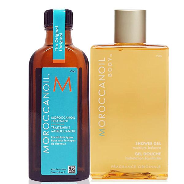 Moroccanoil 摩洛哥優油經典沐浴組合(優油125ml*1+沐浴膠250ml*1)