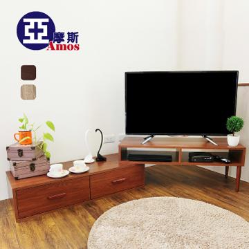 【Amos】溫潤木質雙層電視櫃