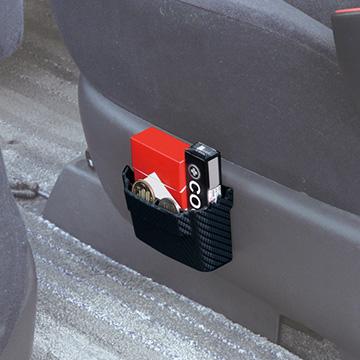 SEIWA黏貼式手機架/收納盒(S/碳纖黑)