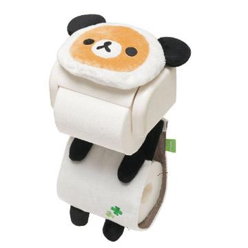 Rilakkuma拉拉熊幸運草熊貓主題捲筒面紙套