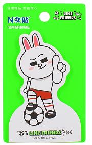 [N次貼] LINE FRIENDS世界盃-兔兔讚-可站立便條紙 - 62013