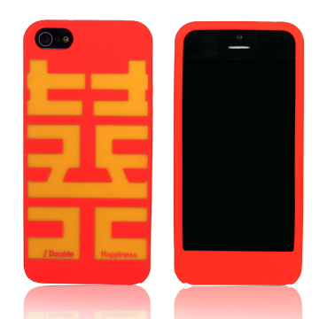 Kalo 卡樂創意 iPhone 5 矽膠保護套-雙喜