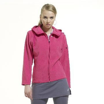 SASAKI 女款 超輕連帽保暖休閒夾克 中桃紅 841155