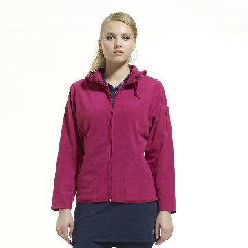 SASAKI 女款 超輕連帽保暖休閒夾克 梅紫 841153