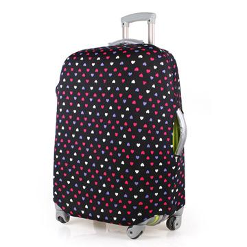 PUSH! 旅遊用品普普風情 心心相印 行李箱拉桿箱登機箱彈力保護套防塵套箱套拖運套24吋
