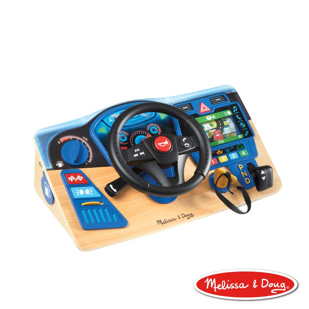 美國瑪莉莎 Melissa & Doug 叭叭 開車遊戲聲光方向盤   模擬儀表板、模擬駕駛操作