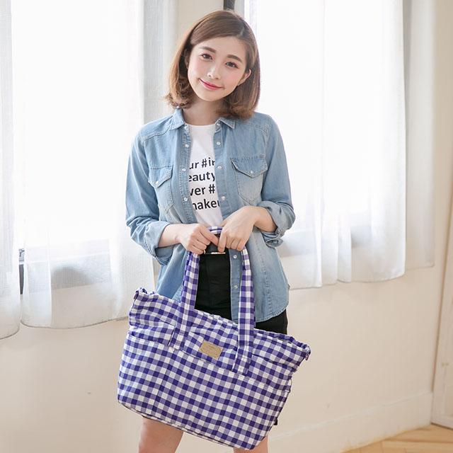 小晴天HARU 日本布料 側背包 – 【方糖紫】