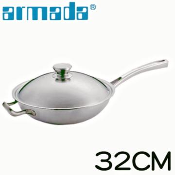 《Armada》伊麗莎白單柄附耳炒鍋特惠組(32公分)