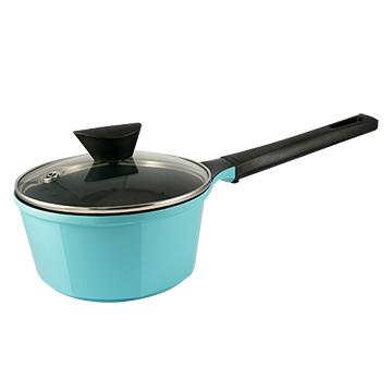 韓國NEOFLAM Venn系列 18cm陶瓷不沾單柄湯鍋(附玻璃鍋蓋)