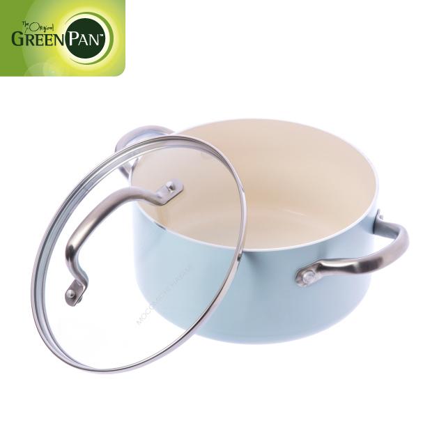 GreenPan Mocomichi聯名款20cm不沾鍋雙耳湯鍋(加蓋)