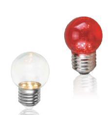 舞光LED 0.4W G40 E27頭球泡( 紅)