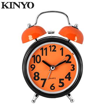 KINYO馬卡龍雙鈴鬧鐘TB702(橘)