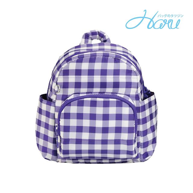 小晴天HARU 日本布料 小童背包【方糖紫】