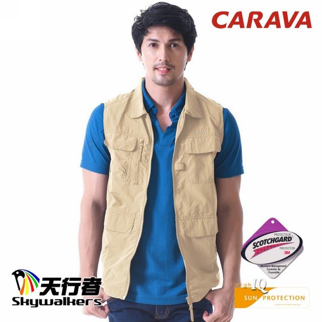 CARAVA《多口袋戶外背心》(杏色)