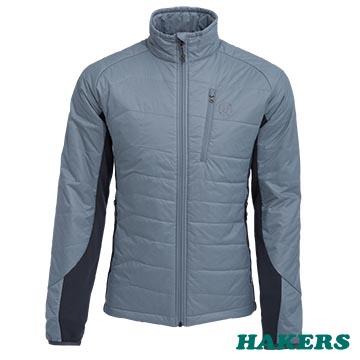 【HAKERS 哈克士】男 Primaloft機能保暖外套-銀灰/鐵灰