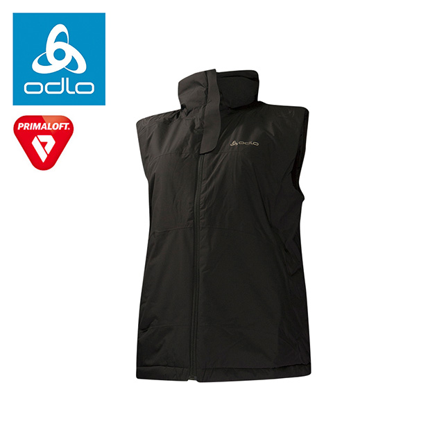 【瑞士ODLO】女primaloft防水保暖背心524011 (黑15000)