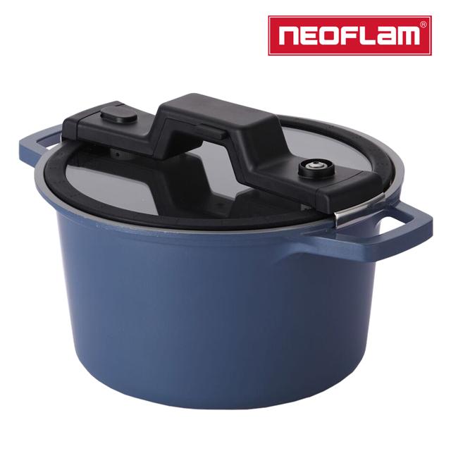NEOFLAM Smart Cook系列低壓悶煮鍋24cm-海藍色