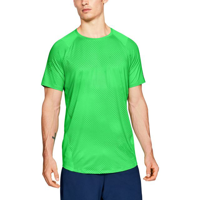 【UNDER ARMOUR】男 HG MK 1短袖上衣(亮綠)