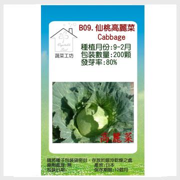 【蔬菜之家】B09.仙桃高麗菜種子