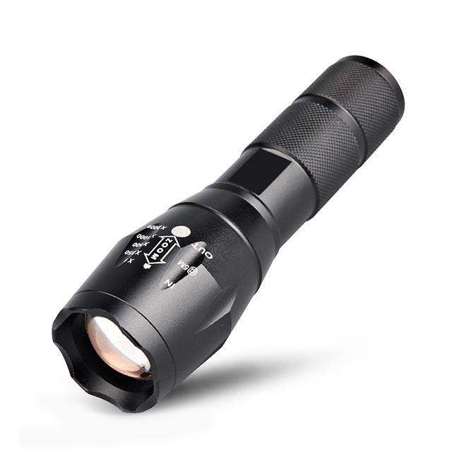 美國進口超亮CREE-T6強光變焦手電筒 LED手電筒 可調五段式燈光 伸縮變焦